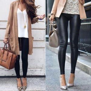 DEBORAH slick leggings - BLACK